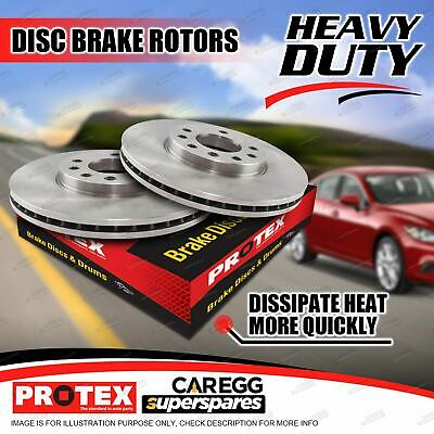 Pair Front Protex Disc Brake Rotors For SUBARU Forester Legacy Liberty Outback W