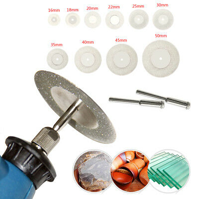 10pcs 16-50mm Mini Diamond Saw Blade Cutting Discs Dremel Drill Rotary Tool