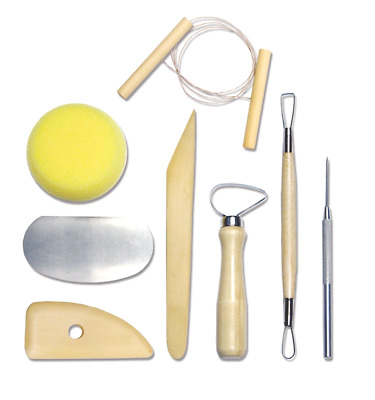 Complete Pottery Tool Set Clay Cutters (8 Piece) Arts and Craft Activity