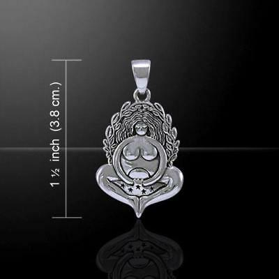 Ancient Celtic Lore MOTHER GODDESS .925 Sterling Silver Pendant