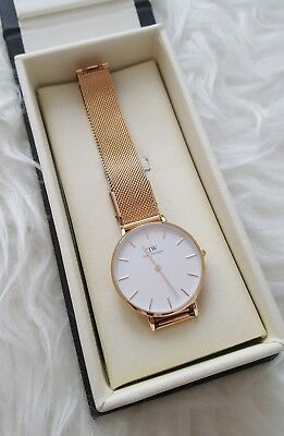 daniel wellington petite melrose rose gold edelstahl damen. Black Bedroom Furniture Sets. Home Design Ideas