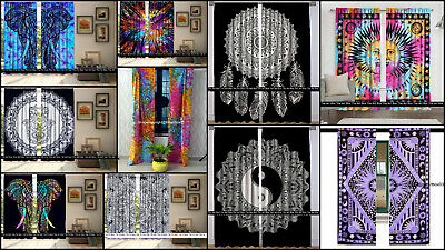 Indian Cotton Window Curtains Hippie Tapestry Ethnic Room Curtains Wall Decor