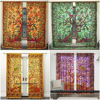 0Indian Mandala Tree of Life Window Tapestry Ethnic Hanging best Cotton Curtains