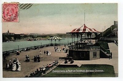 CANADA carte postale ancienne QUEBEC Bandstand and part of terrace