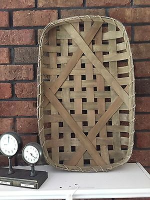 "Large Tobacco Basket  24""  Farmhouse Country  Kitchen Rustic wall decor"