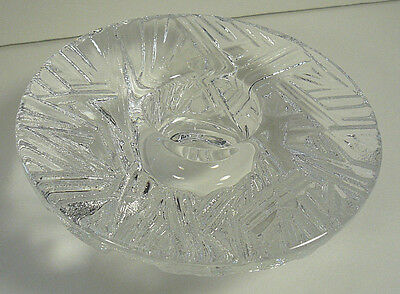 Orrefors Sweden ICICLE Frost Tealight Candle Holder Lars Hellston