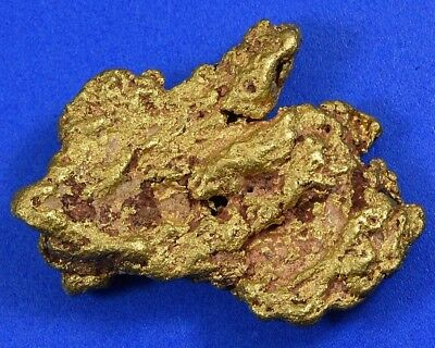 "#1250 Large Natural Gold Nugget Australian 38.26 Grams Genuine  "" Red Tint"""