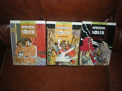 Les Heritiers Du Soleil - Lot De 3 Tomes N°1 + 3 + 4 - Glenat Collection Vecu