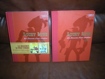 Lot 2 Albums Integrales Atlas Luxe Dos Toile Lucky Luke Incluant 4 Tomes
