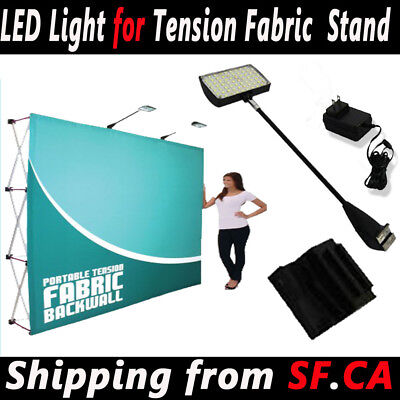 2 PACK - LED LIGHT for Pop Up Trade Show Booth Exhibit Backdrop Display 50 LED