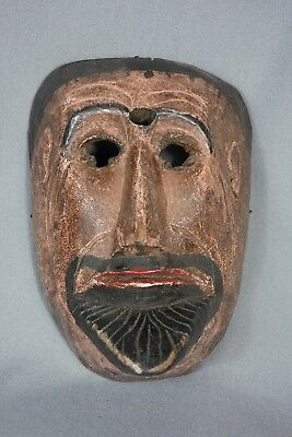 Hand carved Vintage Patzcar Ceremonial Dance Mask from Solola, Guatemala