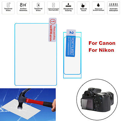 8H LCD Protective Tempered Glass Screen Protector Film for Canon Nikon Camera