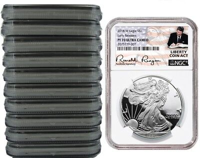ER Liberty Coin Act Black Core 2018 W Silver Eagle Proof NGC PF70 UC