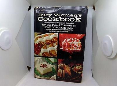 Vintage 1971 Cookbook Busy Woman's Cookbook By Farm Journal - Hard Cover