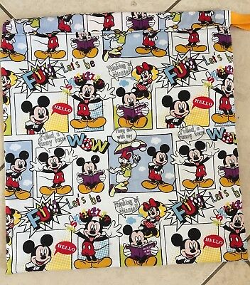 Mickey Mouse Library Bag Handmade cotton and lined