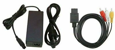 AC Adapter Power Supply & AV Cable Cord (Nintendo Gamecube) New GC Charger Lot