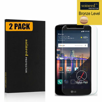 [2-Pack] SOINEED Tempered Glass Screen Protector Saver For LG Stylo 3