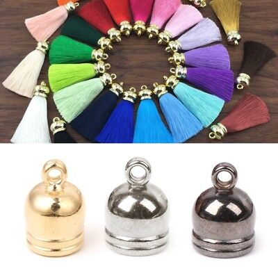 50x Jewelry Making Leather Cord Tassel Caps End Caps for DIY Accessories 6-10mm