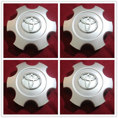 "Silver Wheel Center Hub Caps Emblems Badge Cover Toyota Tundra Sequoia 17"" Wheel"