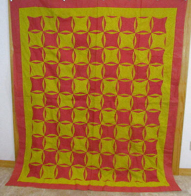 BEST 1890s Pennsylvania Rob Peter To Pay Paul Quilt Top LARGE