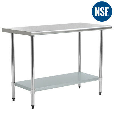 "24"" x36"" Stainless Steel Kitchen Work Table Commercial Kitchen Restaurant Table"
