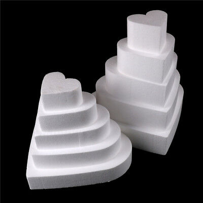 Newest Heart Styrofoam Foam Cake Dummy Modelling Sugar craft Flower Decorating F