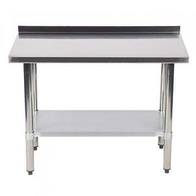 "24""x48"" Stainless Steel Work table with Backsplash Kitchen Restaurant table EB"