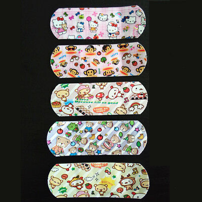 100 pcs Breathable Bandages Band Aid Waterproof Cute Cartoon Hemostasis Adhesive