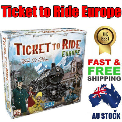 Ticket to Ride Europe Board Game - Brand New Sealed XMAS Birthday Gift Toy