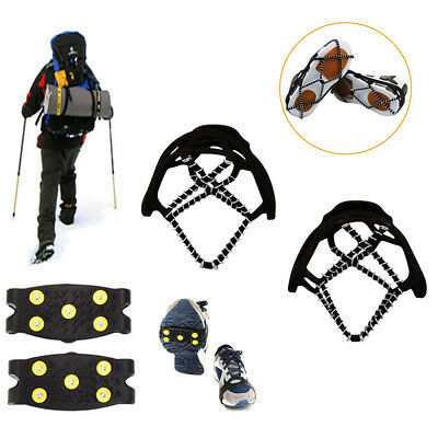 Hot Anti Slip Snow Ice Climbing Spikes Grips Crampon Cleats 5-Stud Shoes Cover