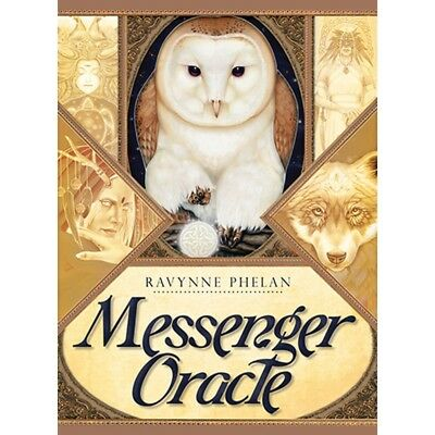 Messenger Oracle Cards:A 50-Card Deck with guidebook by Ravynne Phelan- BrandNew