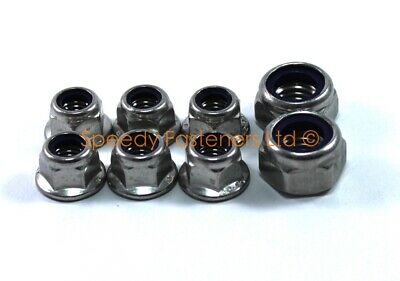 Kart Karting Stainless Steel m12 Nyloc Flange Wheel Nuts 1 Set Project One Cadet