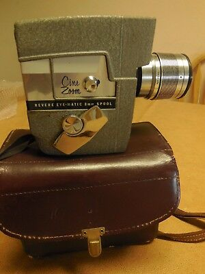 1962 VINTAGE REVERE MOVIE CAMERA AUTOMATIC POWER CINE ZOOM 8mm, INSTRUCTIONS
