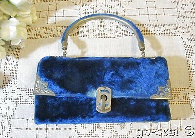 Antique French Velvet Sewing Etui Compendium Handbag Fold Out NAPOLEON III 1870