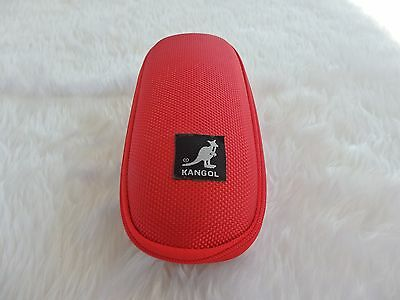 Used - Kangol red zipped glasses / sunglasses case  - proceeds to charity