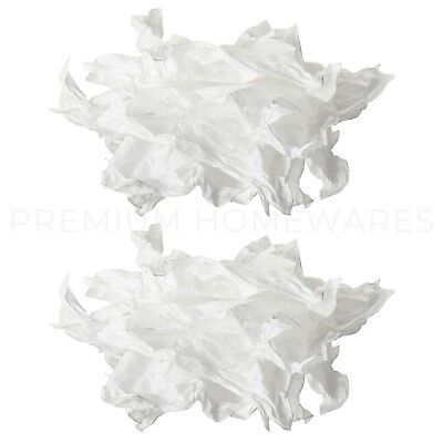 2 x IKEA KRUSNING White Crumpled-Effect White Paper Lamp Shades (43cm)