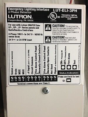 LUTRON LUT-ELI-3PH Grafik Eye Emergency Lighting Interface, 120/480 v systems