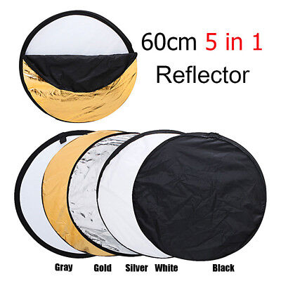 Disc Photo Photography Light Multi Reflector Panel 60cm 5 in 1 Collapsible