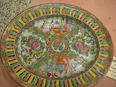 Very Old Chinese Rose Medalion Decorative Plate