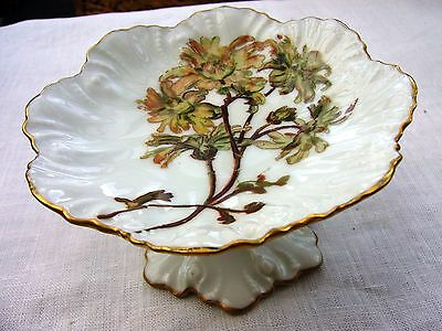 Limoges porcelain footed pin vanity tray