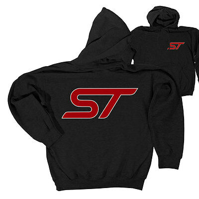 Apparel Hoodie Pull-Over Black With Red ST Logo Medium