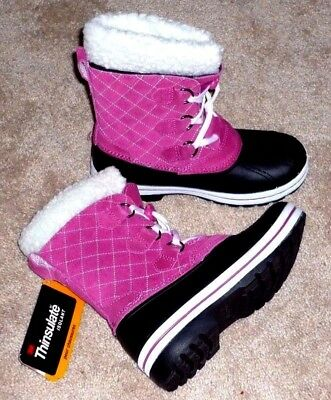 GIRLS SIZE 2 PINK INSULATED -10 Degrees WINTER SNOW PAC BOOTS - BRAND NEW!