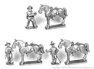 Old Glory War Between the States 25mm Dismounted Horse Holders Pack MINT