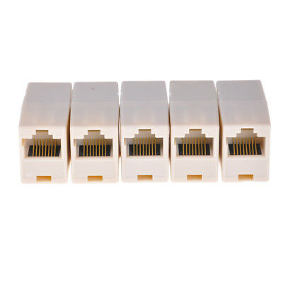 5x RJ11 ADSL Cable Lead Female Joiner Inline Adaptor Coupler Connector Z