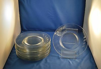 Libbey Wheat Cut Luncheon Plates Set Of 13 #3003