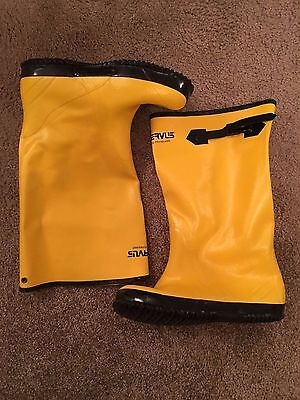 Servus by Honeywell Men's Rubber Protective Overboot A380 S10 Yellow Concrete