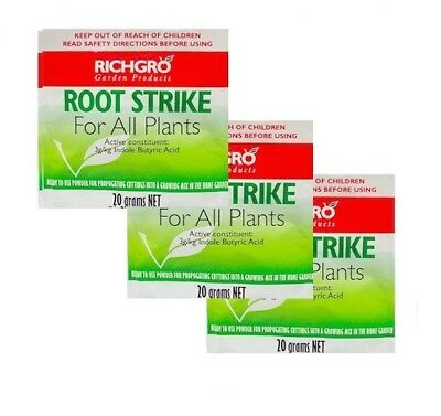 Root Strike Powders x 3 - Stimulates faster root growth - Cuttings & Propagating