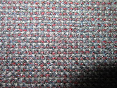 Gm Late 80's Early 90's Chevy/gmc Truck Seat Fabric Blue/grey/red For # 7455