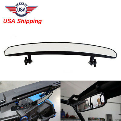 "15"" Wide Rear View Race Mirror Convex Mirror with Clamp 4 UTV Dirt Mud Offroad"