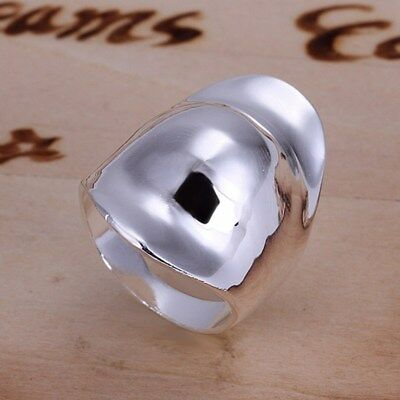 Fashion 925Sterling Solid Silver Jewelry Hat Thumb Rings Men Women R050